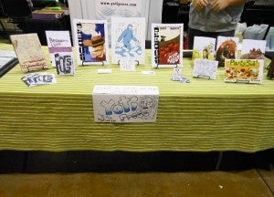 Yeti Press tablecloth trade show