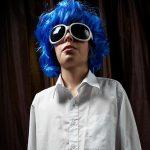 crazy dude in a wig
