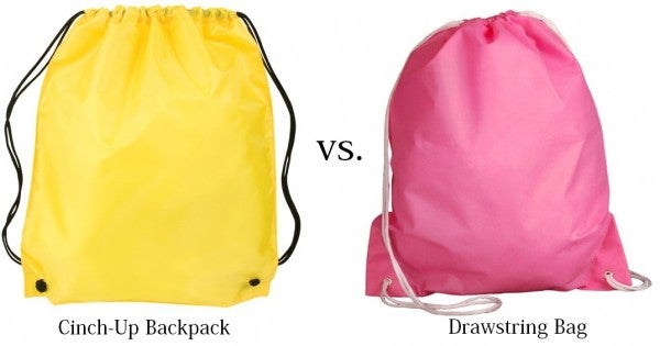 Cinch-Up Backpack vs. Drawstring Bag