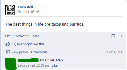 Taco Bell comments