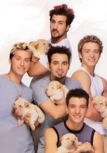 Cute boys + puppies = teen bliss.