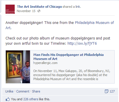 art institute doppelganger
