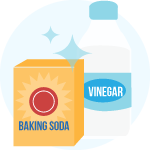 cleaning bottles with baking soda