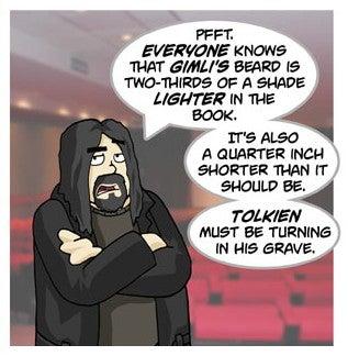 Gimli's beard comic