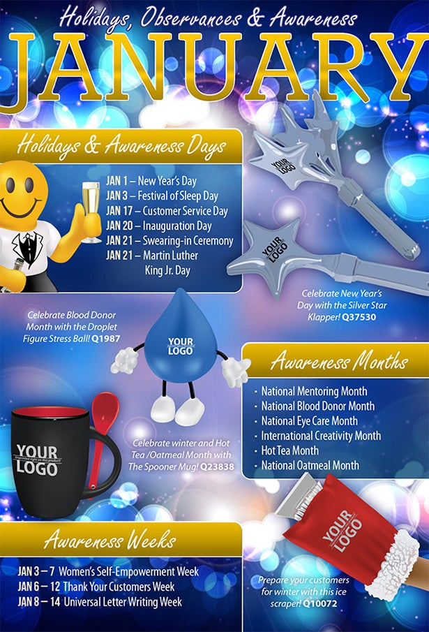 Calendar Monthly Observances : Fun holidays and national days just b use