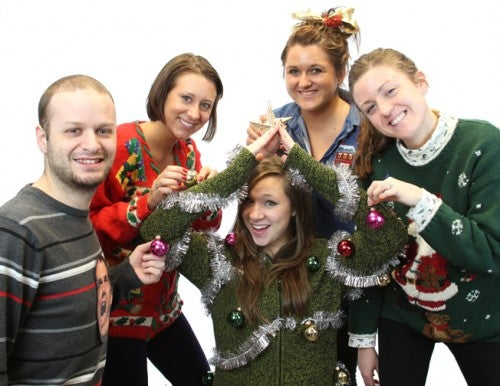 A few of our QLP Ugly Sweater Contest participants.