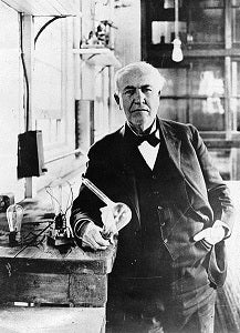 Thomas Edison in his workplace