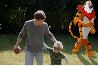 With Dad in the picture, Tony the Tiger can stay in TV ads a bit longer
