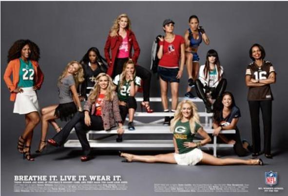 Women wearing jerseys that flatter them instead of making them look like a dude? How scandalous!