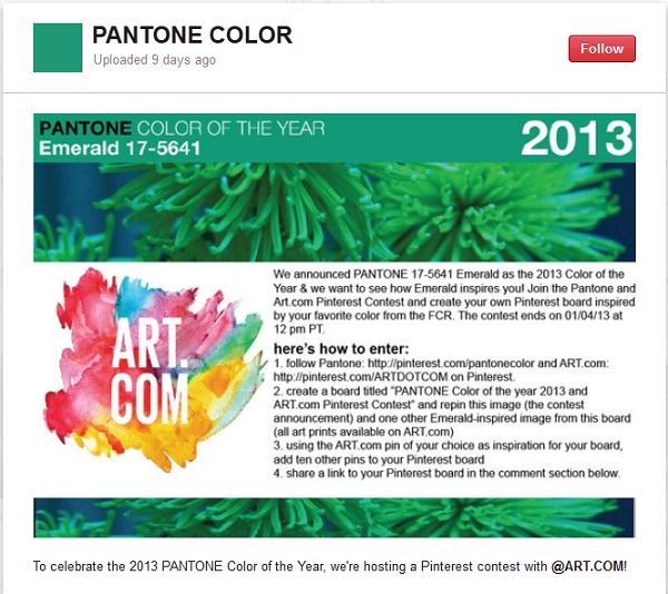 pantone and art dot com