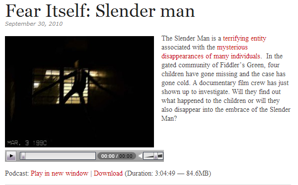 slender man podcast
