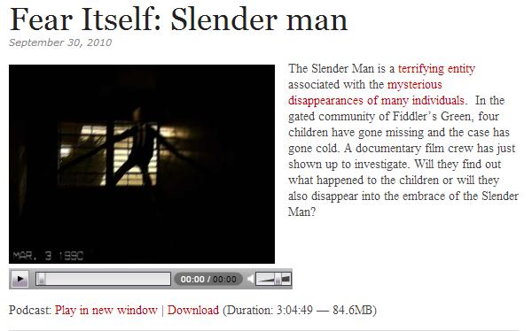 slender man podcast