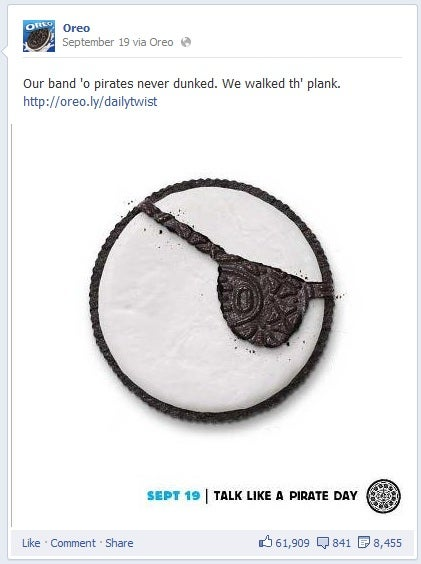 OREO Talk like a pirate day