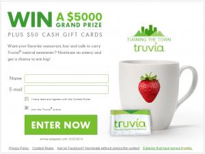 Truvia contest