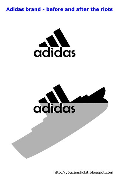 Adidas brand before and after the riots