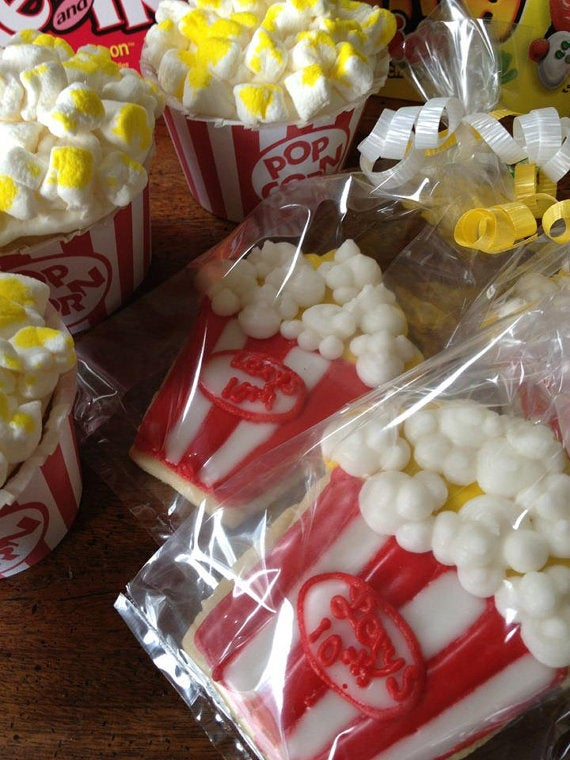 Popcorn Cookie Favors by AlliesSweetTooth