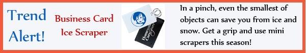 Trend - Business Card Ice Scraper - jan13