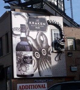 Kraken Spiced Rum Billboard