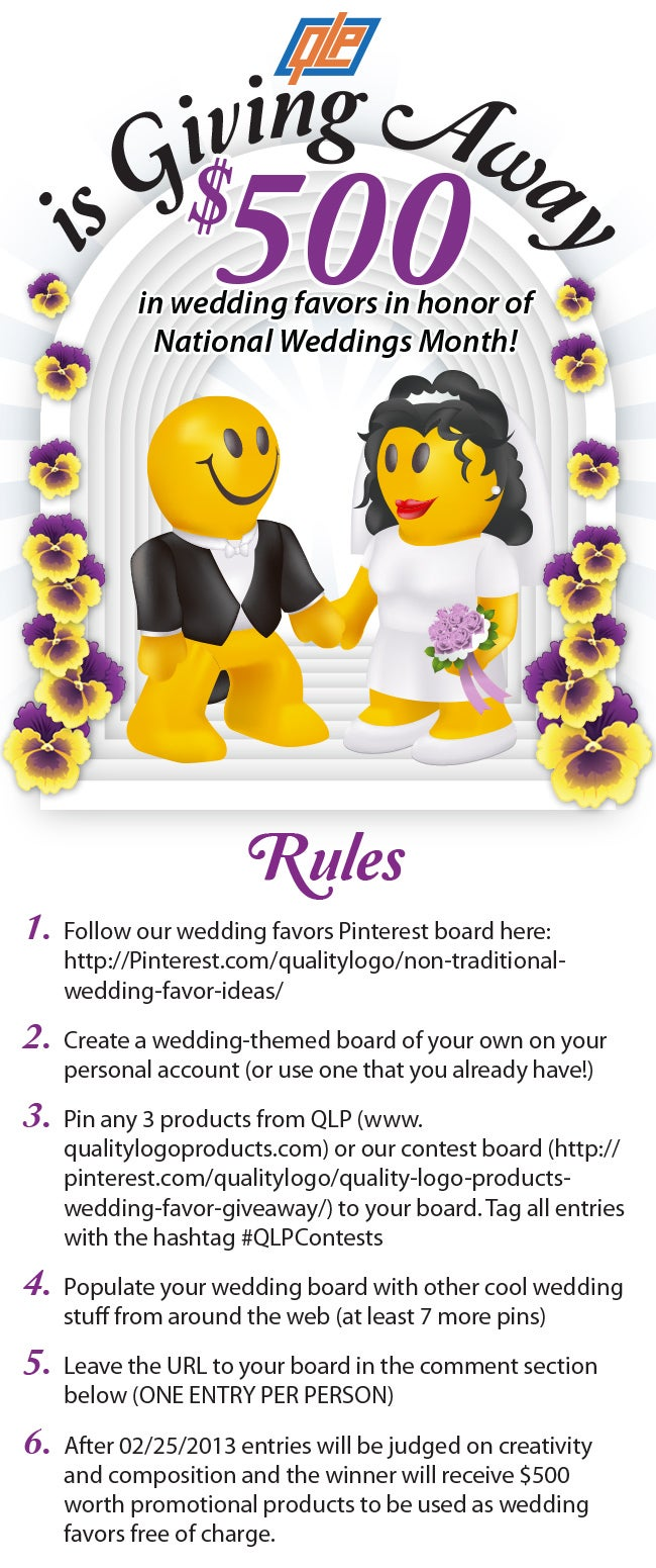 Quality Logo Products is Giving Away $500 in Wedding Favors!