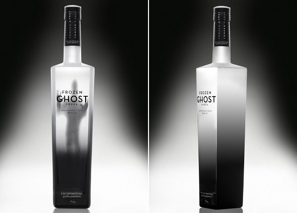 Frozen Ghost Vodka gets our top pick for creepiest bottle in existence.