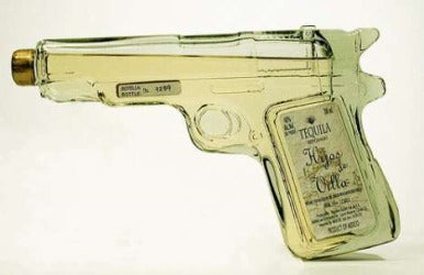 Handgun designed tequila bottle from Hijos De Villa