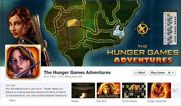 hunger games adventure facebook page