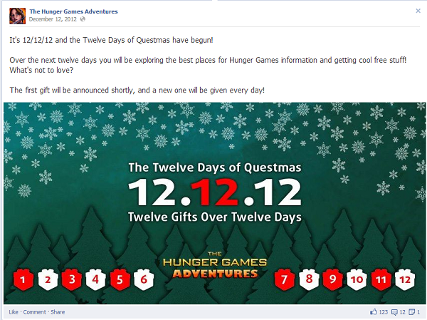 hunger games days of christmas