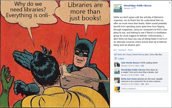 One of the library's Facebook posts.