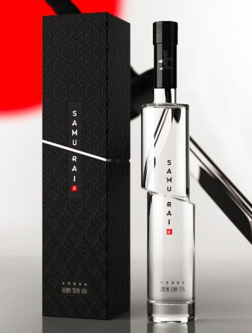 A very clever design, even if it is a Russian vodka.