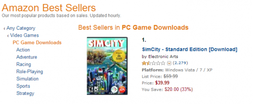 amazon best seller simcity