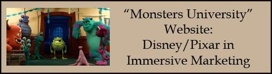 monsters university marketing