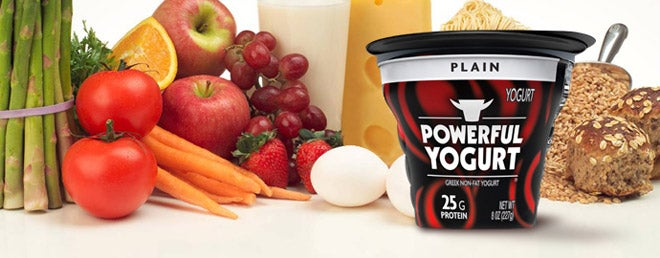 """Powerful yogurt for a powerful gender!"""