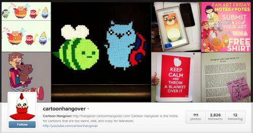 cartoon hangover instagram