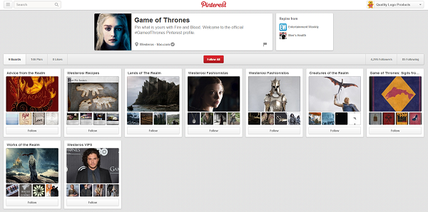games of thrones pinterest