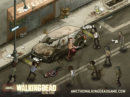 walking dead social game amc