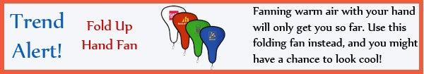 Trend - Fold Up Hand Fan - jun13