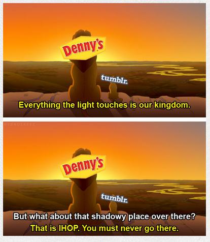 denny's lion king