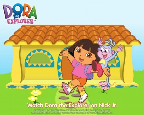 dora the explorer wallpaper nickjr
