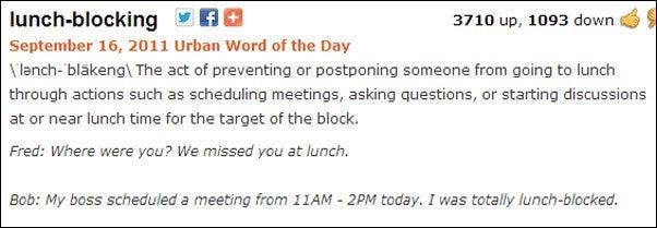 lunchblocking