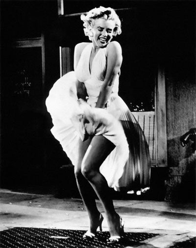 "Pose from ""The Seven Year Itch"""