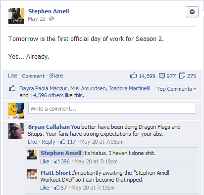 stephen amell replies