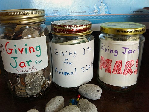 double donation initiative money jars