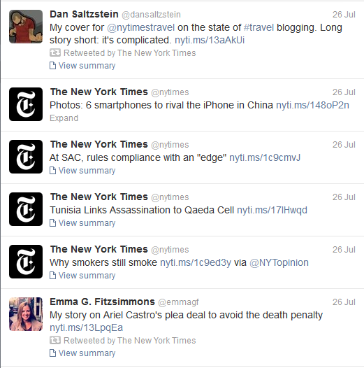 new york times twitter