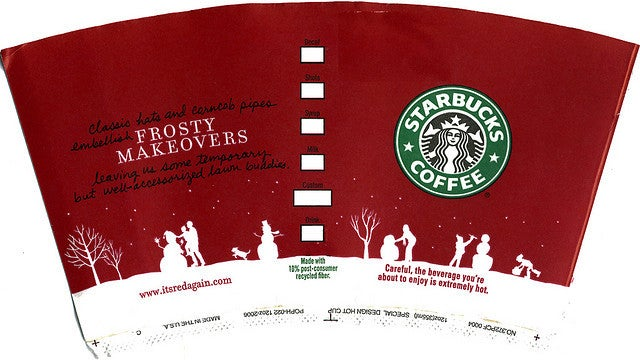 Starbucks' 2006 Holiday Cup
