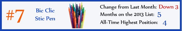 7 - Bic Clic Stic Pen - aug13
