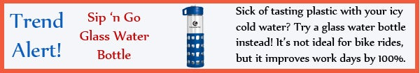Trend - Sip n Go Glass Water Bottle - aug13