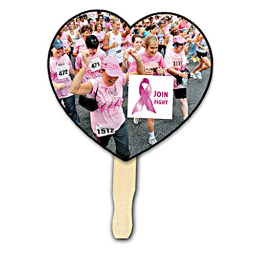 Heart Shape Hand Fan (Digitally Printed)