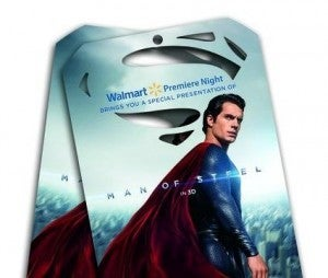 Cross promotion with Wal-Mart. Pick up early premiere tickets at Wal-mart