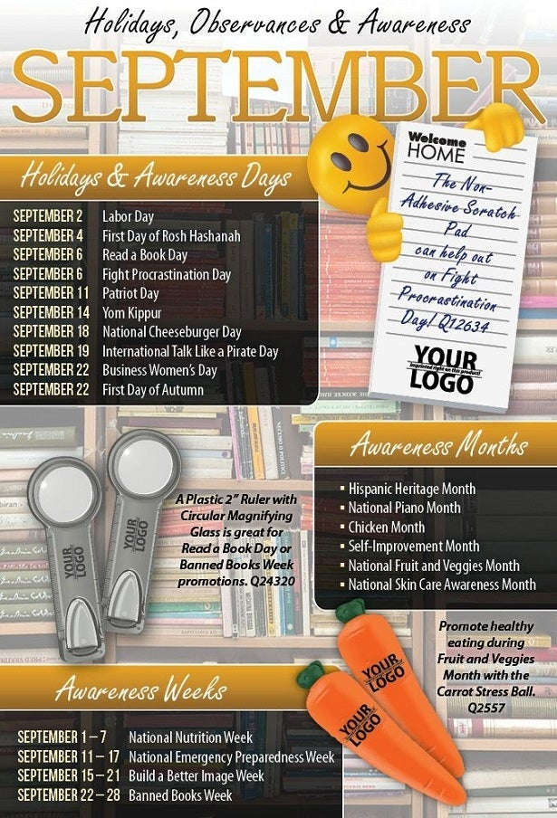 September 2013 Holidays, Observances, and Awareness Dates