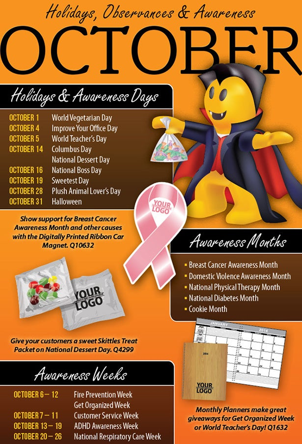 October 2012 Holidays, Observances, and Awareness Dates